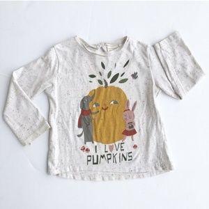 Zara Speckled Pumpkin Long-Sleeve Tee Shir…